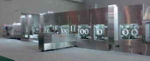 Гибкая производственная линия Tofflon. Линии серии KUFill предназначены для производства сенсибилизирующих противоопухолевых препаратов (OEB класс D, объем дозирования – от 2 до 100 мл)