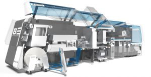 Новая универсальная картонажная машина Р3  производства компании Mediseal для оптимальной  работы с блистерным автоматом BE Blister Expert