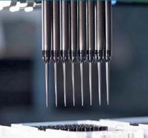 Высокая точность и качество токопроводящих наконечников производства компании Ritter для роботизированных станций пипетирования