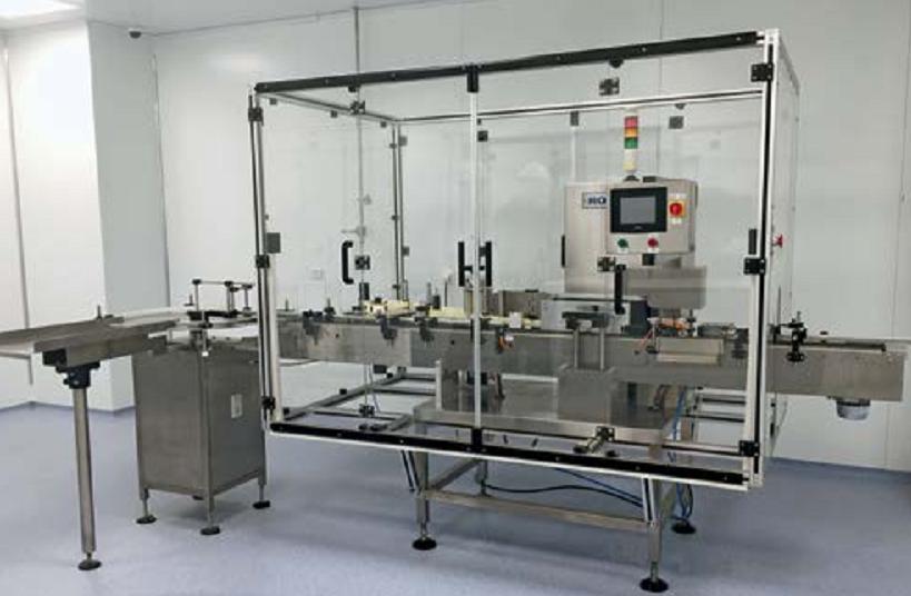 Автомат ROLS-300 для нанесения этикетки на флаконы