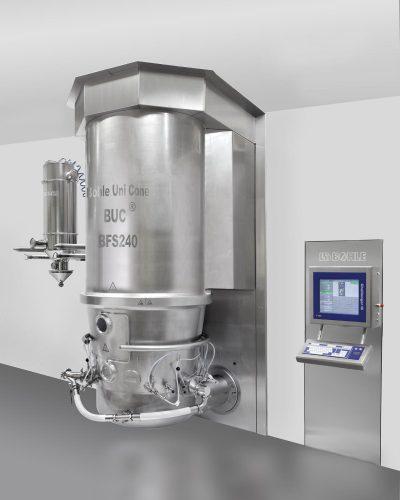 Система псевдоожиженного слоя BFS от компании  L.B. Bohle – многофункциональное оборудование для сушки, грануляции и нанесения покрытий